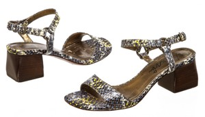Lanvin Faux Snakeskin Blue Multicolor Sandals