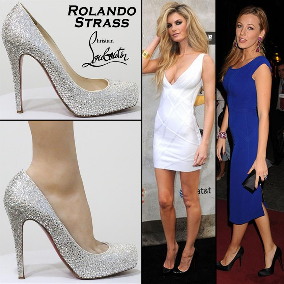 Christian Louboutin White Rolando Strass Wedding Pumps Size Eu