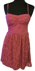 American Eagle Outfitters Bustier Lace Babydoll Rose Boho Top Pink