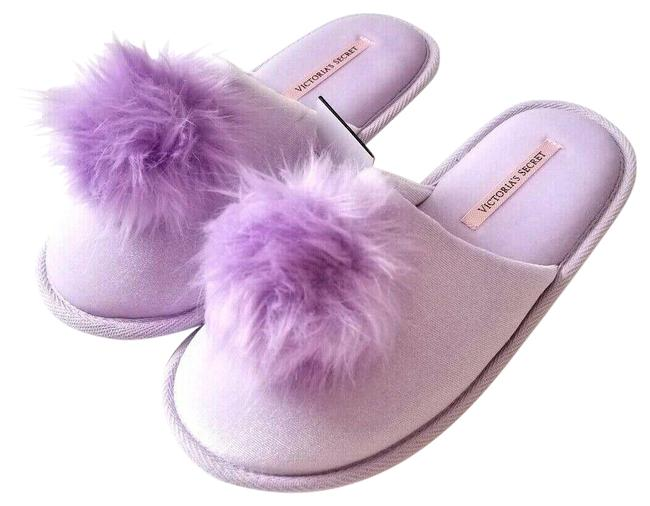 Item - Purple New Velvet Faux Fur Pom Slipper Super Soft Lavender Sandals Size US 6 Regular (M, B)