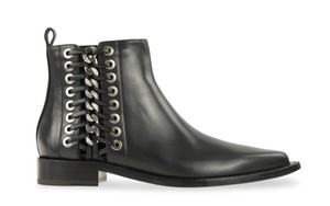 Alexander McQueen Leather Silver Hardware Black Boots