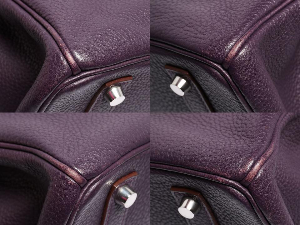 4ec1cbf2431f Hermès Birkin 35 Togo Raisin Purple Leather Satchel - Tradesy