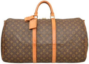 d937809e93 Louis Vuitton Duffle Gym Suitcase Shoulder Strap Bandouliere Brown Travel  Bag