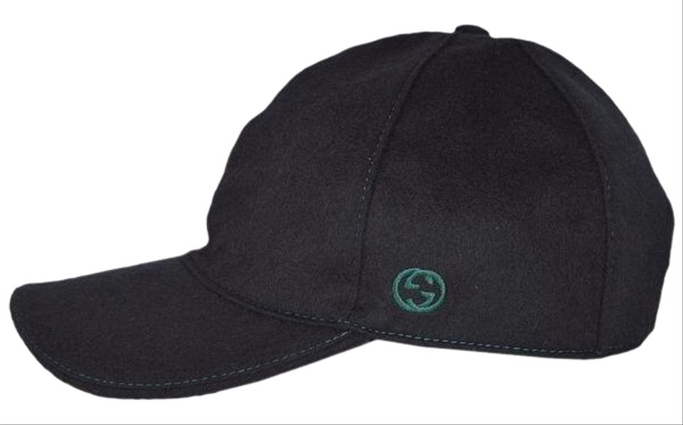 6d288ec6c82 Gucci Gucci 353505 Felted Wool Red Green Band GG Baseball Cap Hat XL Image  0 ...