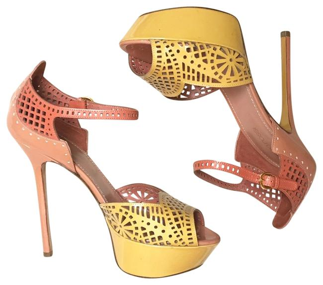 Item - Mustard & Dusty Rose Cut Out Ankle Straps Platforms Size EU 36 (Approx. US 6) Regular (M, B)