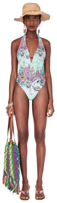 Item - Multicolored 5410/005 One-piece Bathing Suit Size 4 (S)