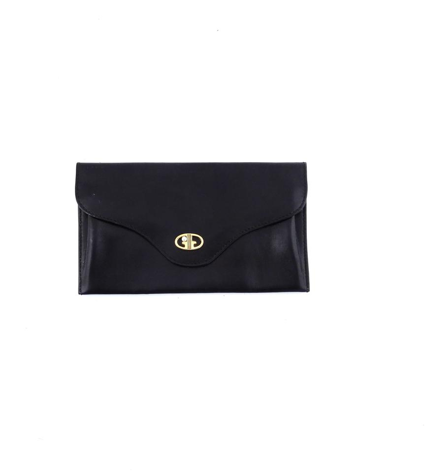 f6100e1df15f Gucci Vintage Leather Clutch Wallet Purse with Gold Pearl Web Accents Image  0 ...