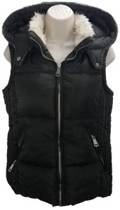 Foreign Exchange Puffer Hooded Winter Vest