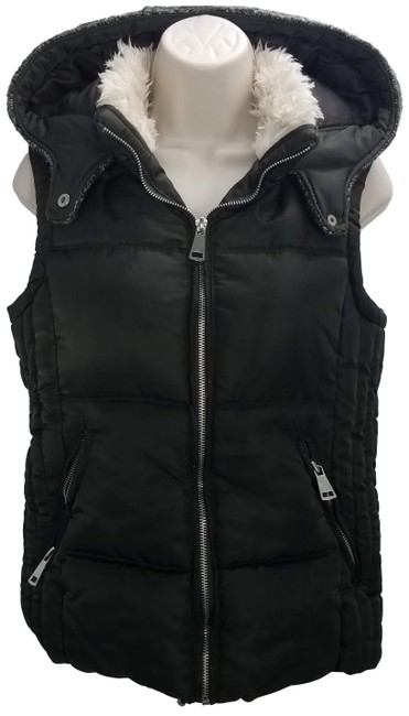 Item - Green Hooded Puffer Vest Size 4 (S)