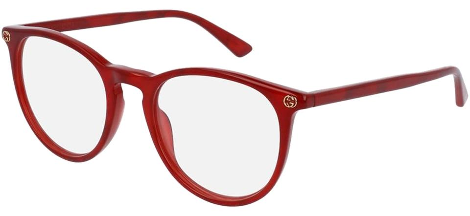 14be5ced94082 Gucci Red Frame   Demo Lens Gg0027o 004 Women s Round Style ...