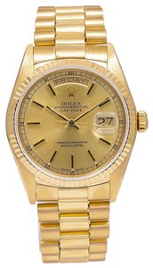 Rolex Rolex Day-Date 18038 36MM Champagne Dial With President Yellow Gold