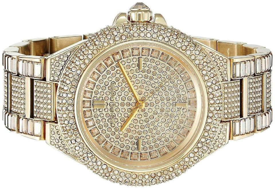 6ffcd5ec9909 Michael Kors Gold Camille Stainless Pave Crystal Glitz Mk5720 Watch -  Tradesy