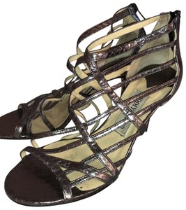 Jimmy Choo metallic, steel, grey, silver Sandals