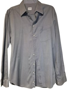 Armani Collezioni Button Down Shirt Light Gray