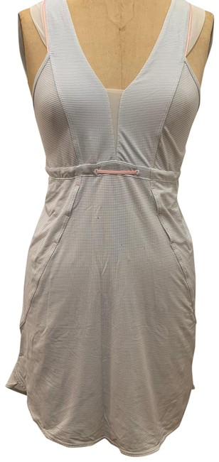 Item - White/Pink Short Casual Dress Size 4 (S)