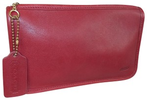 Coach Vintage Chunky Case Red Clutch
