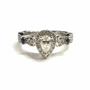 Vera Wang GORGEOUS!! Vera Wang Love White Gold Ring with Diamonds and Sapphire