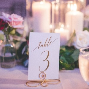 """Gold Foiled Table Number Cards- 14 Ct- 4x6"""" Reception Decoration"""