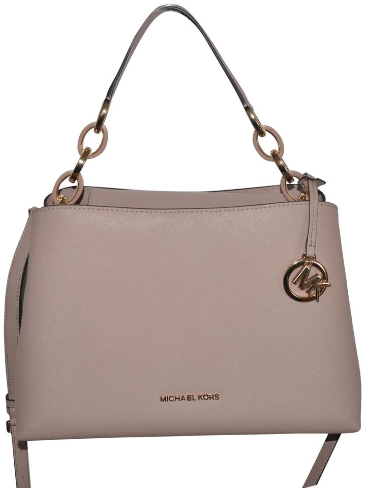 00bad2a5afa5 Michael Kors Portia Large East West Shoulder Fawn Pink Gold Leather ...