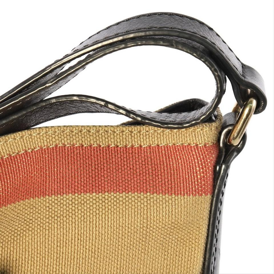 d668ea61642c Burberry Ashby House Check Mini Tan Canvas Hobo Bag - Tradesy