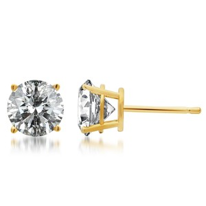 Jewelry Unlimited Mens Ladies 3.5MM Solitaire Diamond Studs 0.50 Ct