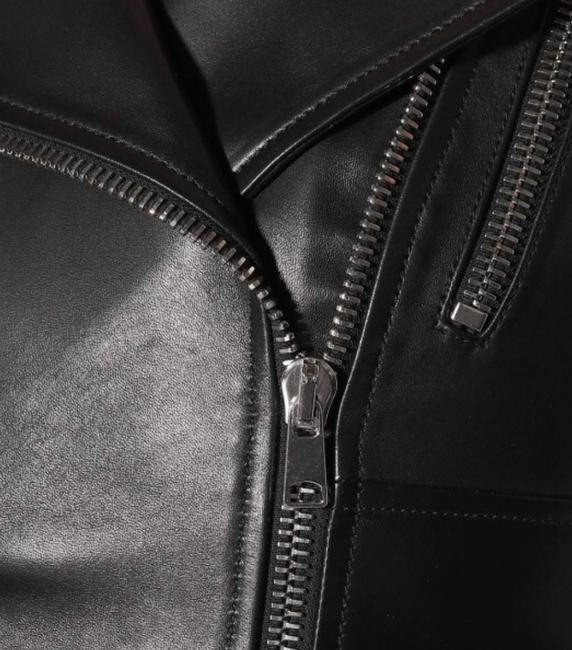 MCQ by Alexander McQueen Moto ; Leather Leather Peplum Motorcycle Jacket Image 1