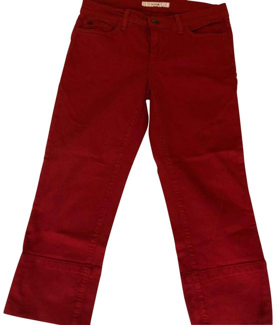 Item - Red Socialite Kicker Capri/Cropped Jeans Size 6 (S, 28)