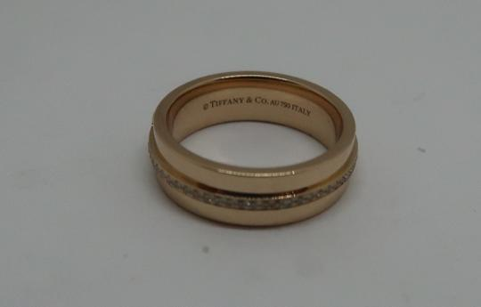 14686adaa Tiffany & Co. 18k Rose Gold and Diamond T Two Narrow Ring - Tradesy