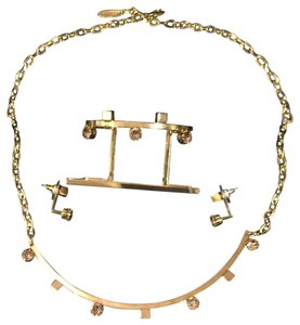 Joomi Lim Set of Three Pieces: Necklace, Bangle Bracelet and Earrings