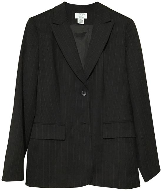 Item - Brown Striped Jacket Pant Suit Size Petite 6 (S)