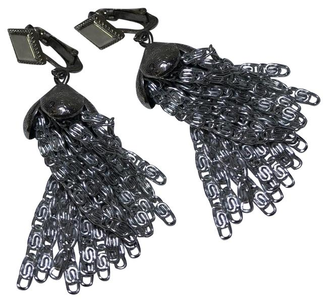 Item - Silver Vintage Chain Tassel Earrings