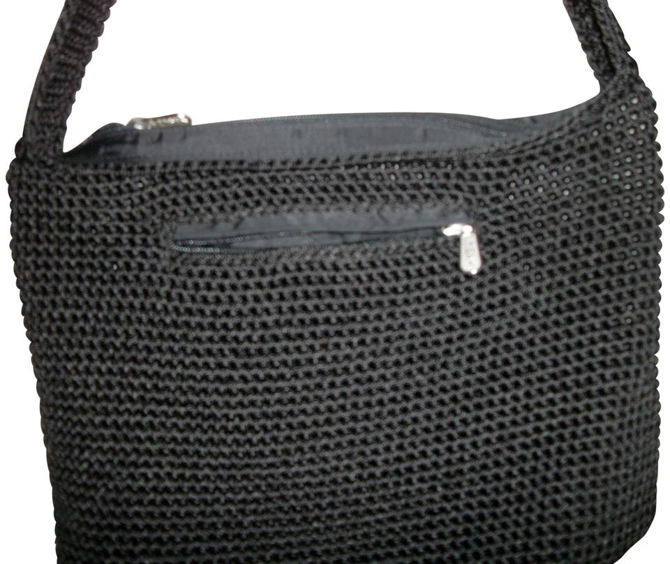 The Sak Crochet Black Fabric Shoulder Bag Tradesy