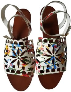 a35303271 White Tory Burch Sandals - Up to 90% off at Tradesy