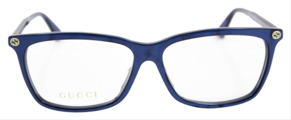 3d96d79f1a5 Gucci Blue New Gg0042oa Asian Fit Cat Eye Frames Sunglasses - Tradesy