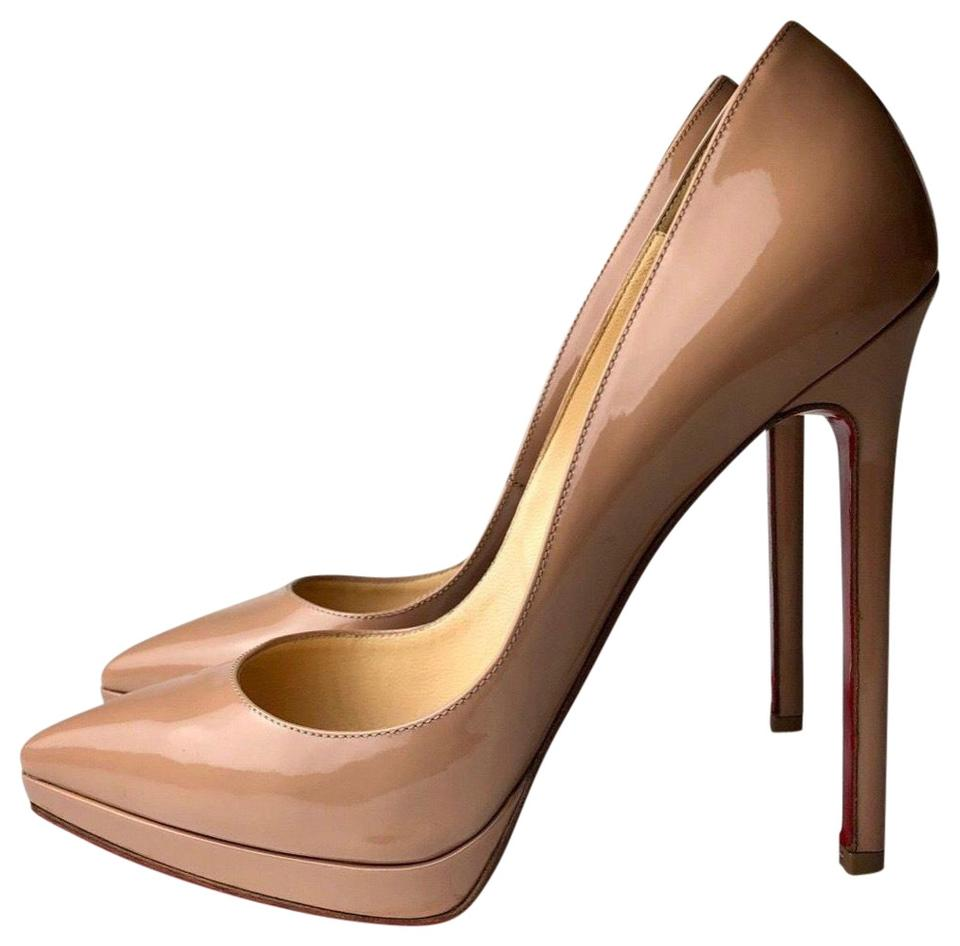 826ac5f16cf Christian Louboutin Patent Nude Pigalle Plato 140 Pumps Size EU 38 (Approx.  US 8) Regular (M, B) 49% off retail
