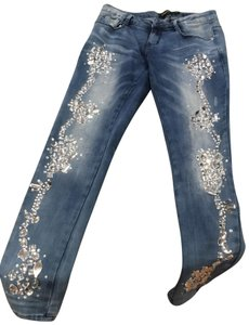 Sparkle & Fade Skinny Jeans-Distressed