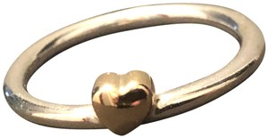 PANDORA Ring Puzzle Heart Sterling Silver/14K Yellow Gold