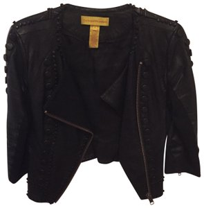 Catherine Malandrino black Leather Jacket