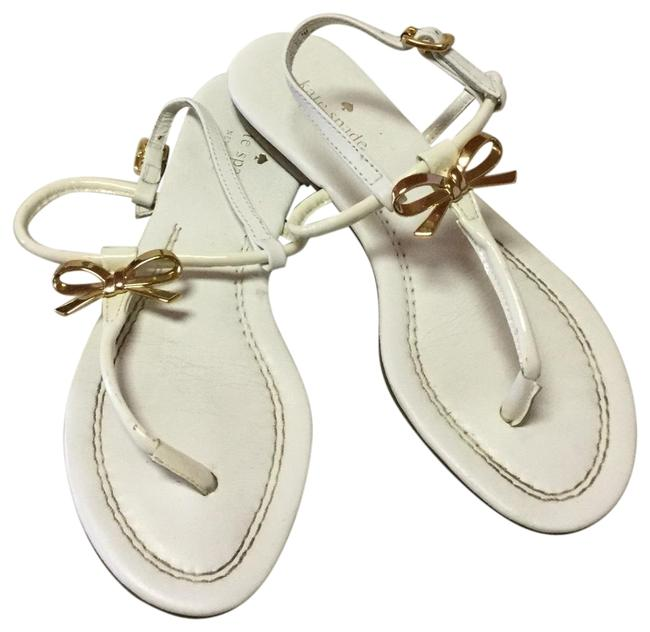 Item - White New York Tracie Bow Thong Flats Sandals Size US 7 Regular (M, B)