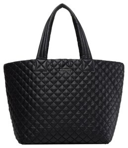 0f27b44b82 MZ Wallace Tote Quilted Nylon Black Travel Bag
