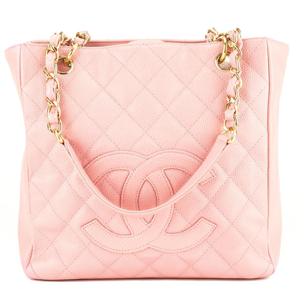b05117d69ae6 Chanel Shopping Tote Quilted Petit Pst 3954001 Pink Caviar Shoulder ...