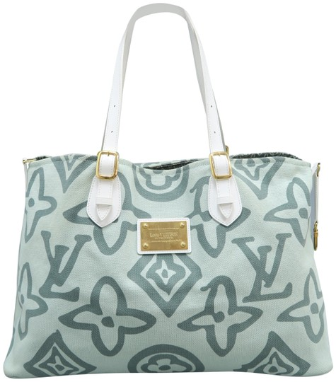 72713a4b7ee9 Louis Vuitton Lv Cabas Tahitienne Canvas Tote in Pale Green Image 0 ...