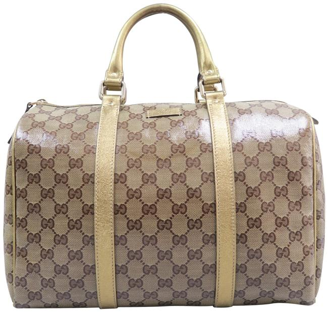 Item - Boston Gg Crystal Joy Brown Patent Leather Tote