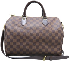 Louis Vuitton Speedy Canvas 30 Satchel in Brown