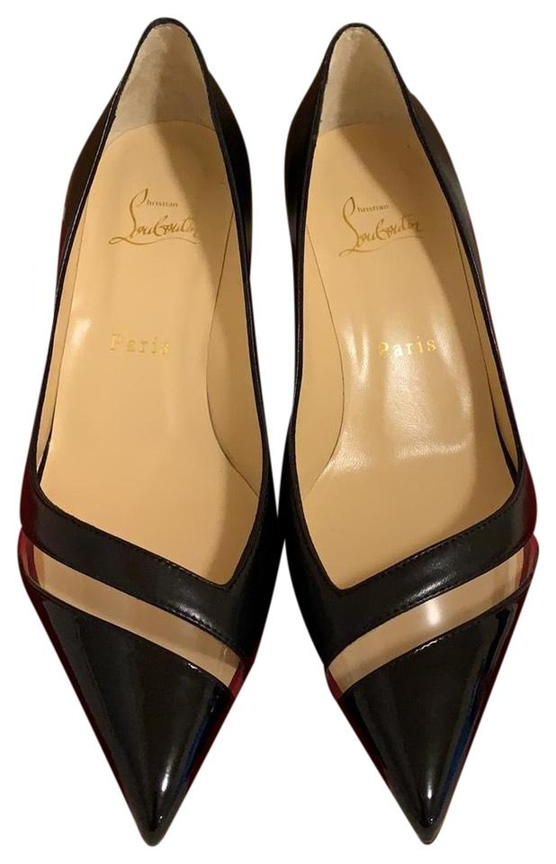 best service 78a58 7eb0a Black 17th Floor Red Pumps