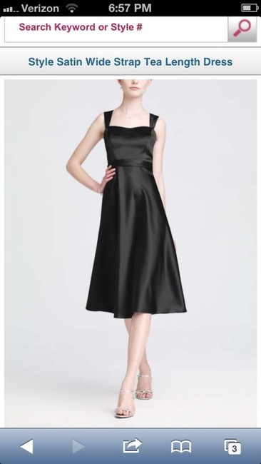 Item - Black Satin F14556 Vintage Bridesmaid/Mob Dress Size 8 (M)