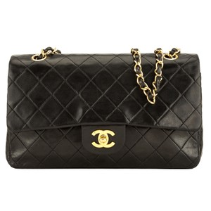 163e39d314fb Chanel Shoulder Bag · Chanel. Classic Flap Quilted Leather Double 4078001  Black Lambskin ...