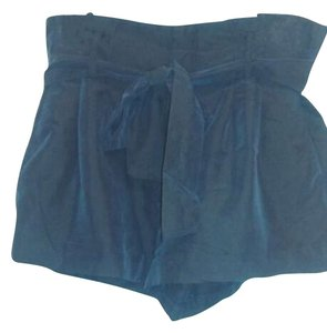 American Eagle Outfitters Belted Cuffed Blue Soft Pockets Dress Shorts Navy