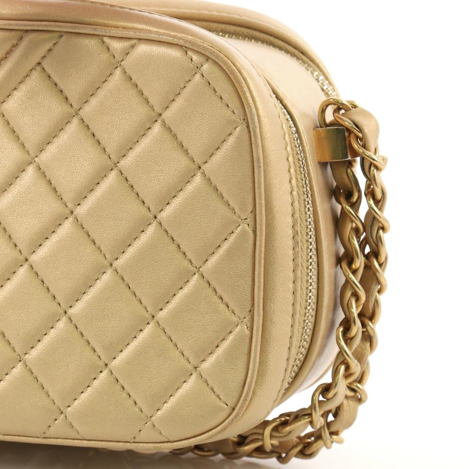 518154fdf3a11e Chanel Camera Boy Quilted Small Gold Leather Satchel - Tradesy