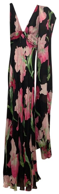 Item - Pink and Black Designer Gown Long Formal Dress Size 2 (XS)